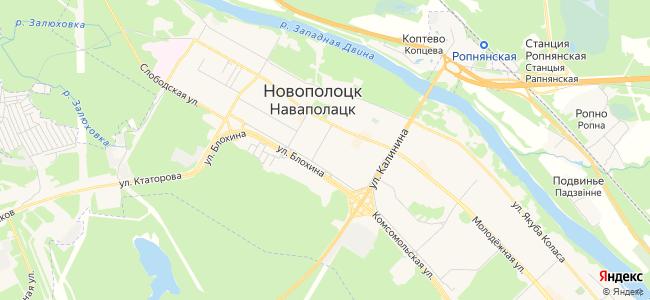 Гостиницы Новополоцка - объекты на карте