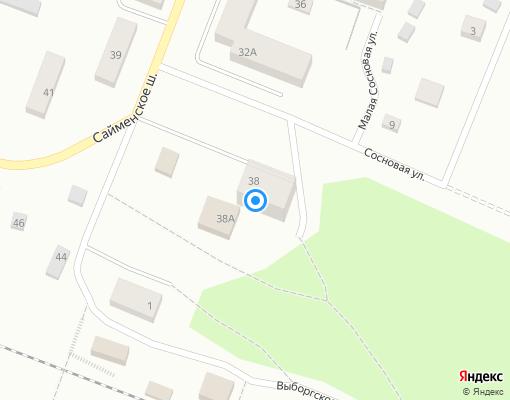 Товарищество собственников жилья «Калинка» на карте Выборга