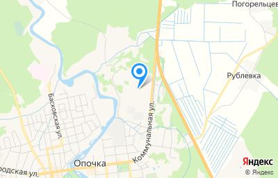 Местоположение на карте пункта техосмотра по адресу Псковская обл, г Опочка, ул Коммунальная, д 86, пом 1003