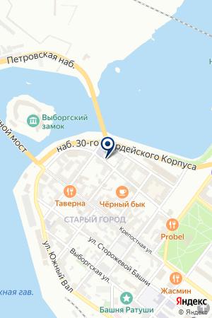 АЗС РУСЛАН на карте Выборга
