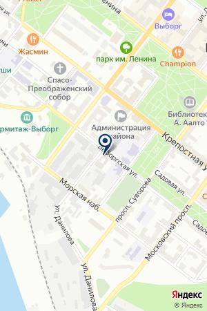 АЗС УНИРЕМ-АВТОСЕРВИС на карте Выборга