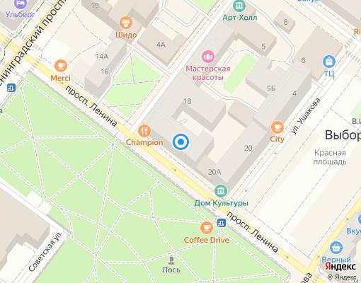 Товарищество собственников жилья «Ленина-18» на карте Выборга