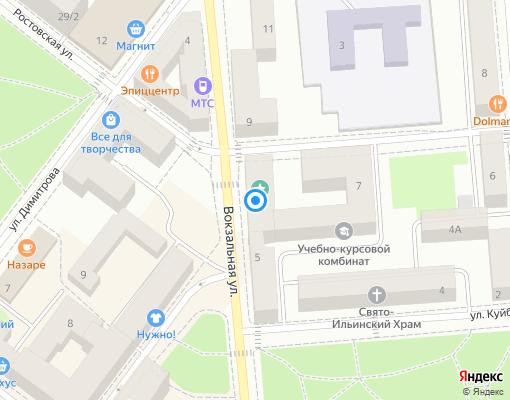 Товарищество собственников жилья «Вокзальная,7» на карте Выборга