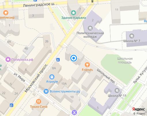 Товарищество собственников жилья «Жилой дом в пер. Школьный 5 г. Выборг» на карте Выборга