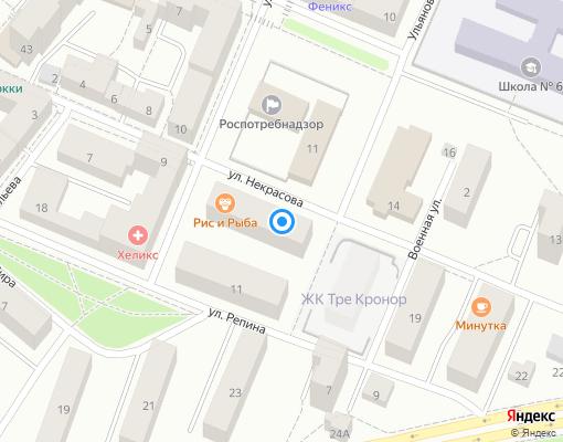 Товарищество собственников жилья «Некрасова,11» на карте Выборга