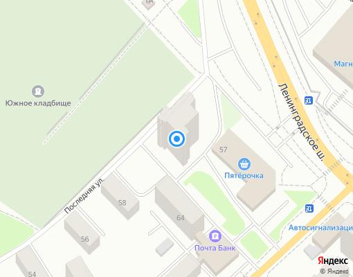 Товарищество собственников жилья «ЛЕНШОССЕ 55» на карте Выборга