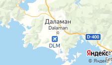 Отели города Даламан на карте