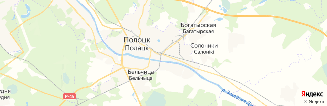 Полоцк на карте