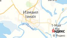 Гостиницы города Измаил на карте