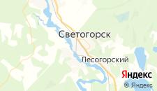 Гостиницы города Светогорск на карте