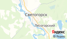 Отели города Светогорск на карте