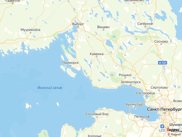 поселок Рябово на карте