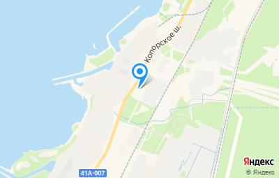 Местоположение на карте пункта техосмотра по адресу Ленинградская обл, г Сосновый Бор, тер Промзона