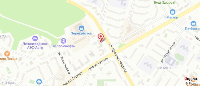 Карта расположения пункта доставки Сосновый Бор Красных Фортов в городе Сосновый Бор