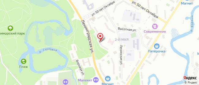 Карта расположения пункта доставки Сосновый Бор Ленинградская в городе Сосновый Бор