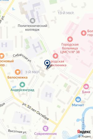 ЮВЕЛИРНЫЙ МАГАЗИН САПФИР на карте Соснового Бора