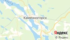 Отели города Каменногорск на карте