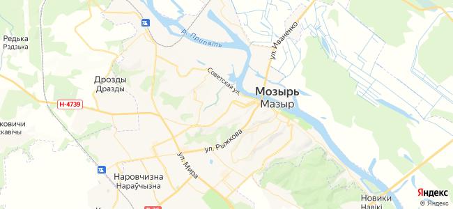 Гостиницы Мозыря - объекты на карте