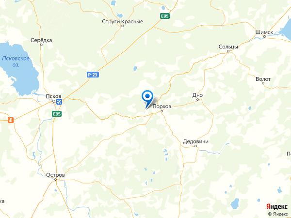 деревня Хилово на карте