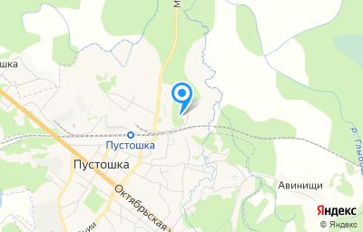 Местоположение на карте пункта техосмотра по адресу Псковская обл, г Пустошка, ул Железнодорожная, д 32