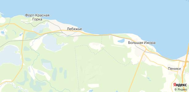 Лебяжье на карте