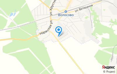 Местоположение на карте пункта техосмотра по адресу Ленинградская обл, г Волосово, ул Строителей, д 25