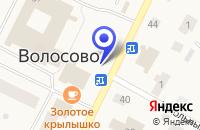 Схема проезда до компании ПТФ ЛЕНЛЕС в Волосово