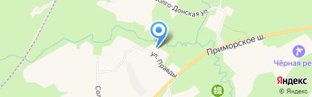Муниципальное образование пос. Молодежное на карте Санкт-Петербурга