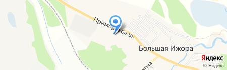 Большеижорская городская поликлиника на карте Большой Ижоры