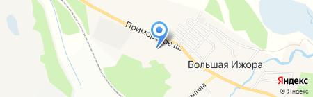 Магазин одежды и игрушек на Приморском шоссе на карте Большой Ижоры