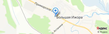 Большеижорская поселковая библиотека на карте Большой Ижоры
