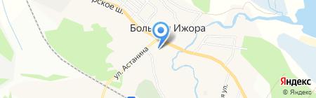 Большеижорская средняя общеобразовательная школа на карте Большой Ижоры