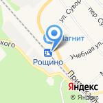 Рощино на карте Санкт-Петербурга
