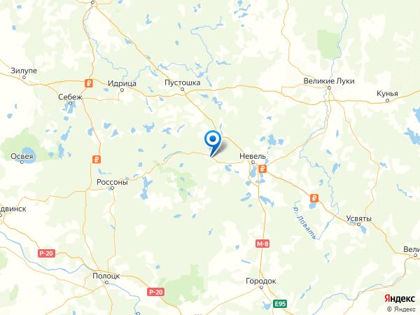 деревня Юрово на карте
