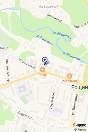 Магазин хлебобулочных изделий на Советской на карте Рощино
