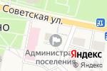 Схема проезда до компании Администрация городского поселения Рощинское в Рощино