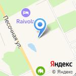 Raivola на карте Санкт-Петербурга