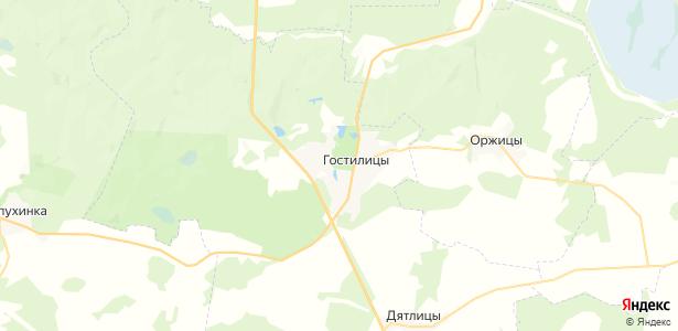 Гостилицы на карте