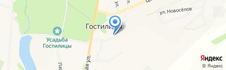 Киоск по ремонту обуви на карте Гостилиц