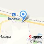 Зелёная станция Бронка на карте Санкт-Петербурга