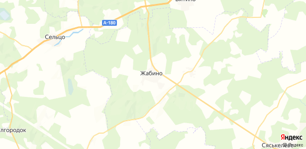Жабино на карте