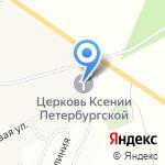 Церковь Святой Блаженной Ксении Петербургской на карте Санкт-Петербурга