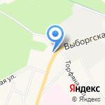 Шиномонтажная мастерская на карте Санкт-Петербурга