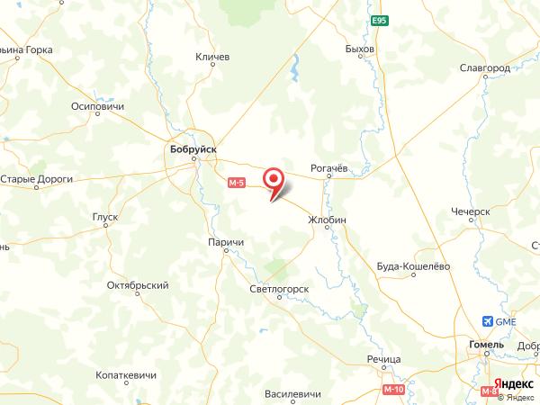 посёлок Данилов Мост на карте