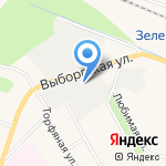 Зеленогорская баня на карте Санкт-Петербурга