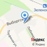 Курортное на карте Санкт-Петербурга