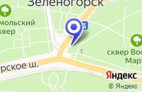 Схема проезда до компании МАГАЗИН КАНЦТОВАРОВ ИРБИС в Зеленогорске