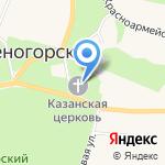Храм иконы Казанской Божией Матери на карте Санкт-Петербурга