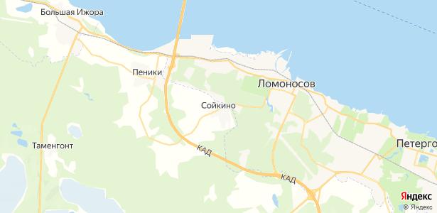Сойкино на карте