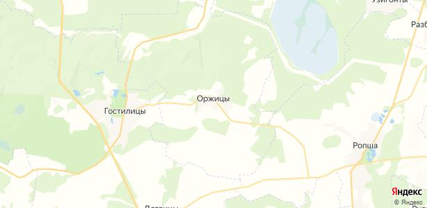 Оржицы на карте
